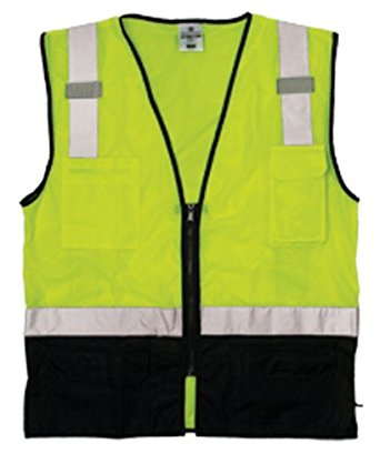 Black Bottom Hi-Viz Vest High Visibilty Vest, Hi Viz, Hi viz, High Visibilty, Black Bottom Vest, Black Bottom, Class 2