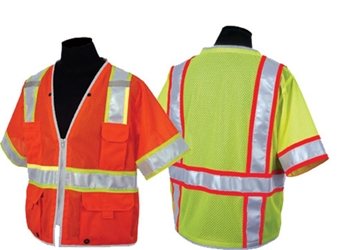 Brilliant Series Class 3 Heavy Duty Vest High Visibility Vest, Class 3, Hi-Viz, 1550, 1551, Brilliant Series Class 3 Heavy Duty Vest, ML Kishigo