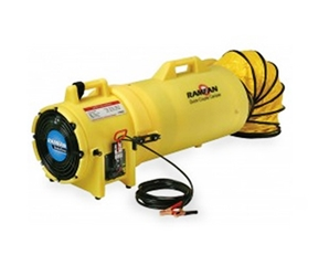 "8"" 12V Confined Space Blower/Exhauster, Battery Clips, Quic-Couple Canister w/ 25"