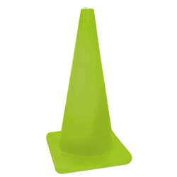 "18"" Fluorescent Yellow/Green (Lime) Standard Traffic Cone"