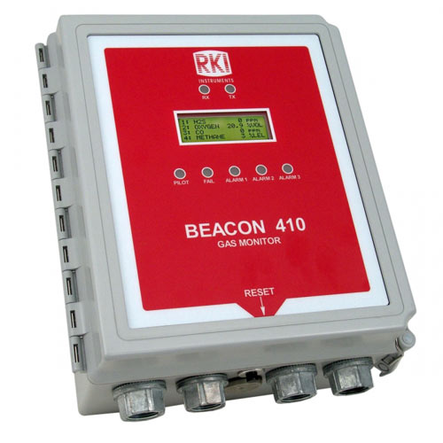Beacon 410 Four Channel Wall Mount Controller RKI, Beacon 410, Four Channel Wall Mount Controller, fixed gas detection