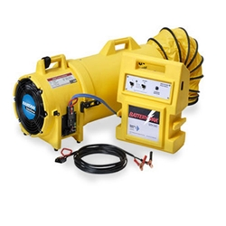 "12V DC High / Low Control 8"" Confined Space Blower w/ Battery Pak"