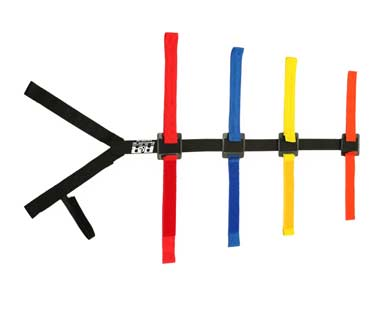 Board Harness Traditional Velcro Hand Holds R&B, Board Harness Traditional Velcro Hand Holds, BB-30-R&B