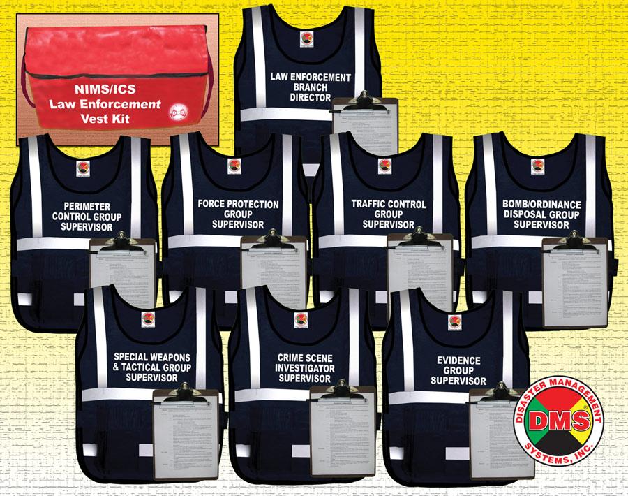 Nims Ics Law Enforcement Vest Kit Dms 05309 Disaster