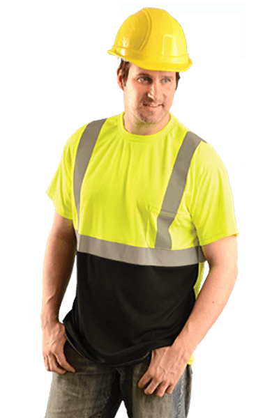 High Visibility Black Bottom T Shirt Lux Ssetpbk Occunomix