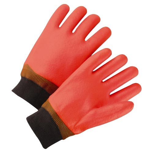 Knit Wrist Orange Foam Lined PVC Glove from West Chester