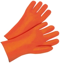 "12"" Orange Foam Lined PVC Glove"
