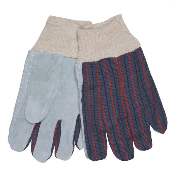 Memphis Glove-Clute Pattern Leather Palm Glove Knit Wrist from MCR Safety