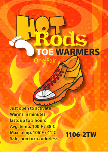 Hot Rods Toe Warmers from Occunomix