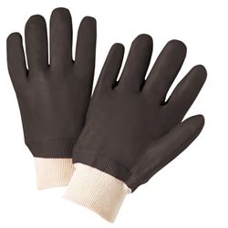 Wrist Rough Jersey PVC Glove, Sandpaper Grip from West Chester