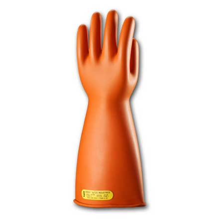 Class 0 Orange Insulating Gloves 11