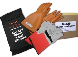 "Novax Class 2 14"" Orange Electrical Glove Kit from PIP"