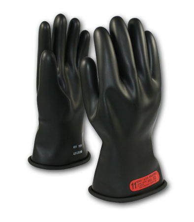 Class 0 Black Insulating Gloves 11""