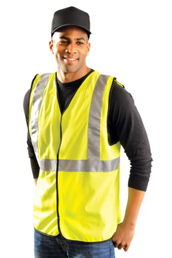Class 2 Classic Solid Economy Hi-Viz Vest from Occunomix