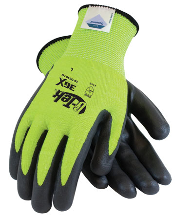 Lime Green w/ Black Foam Nitrile Palm Glove from PIP