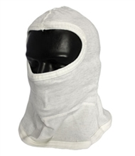 Full Face Single Layer White Hood w/ Bib from PIP