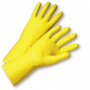 18Mil Flock Lined Yellow Latex, Premium Grip from West Chester