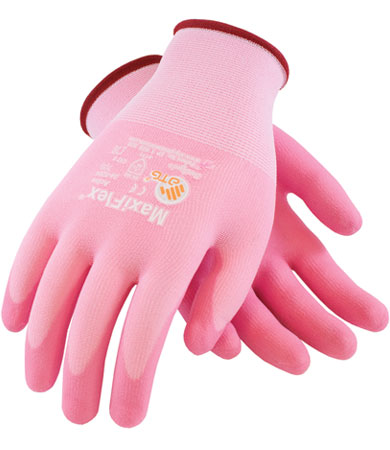 Ultra Light Weight Pink Foam Nitrile Glove from PIP