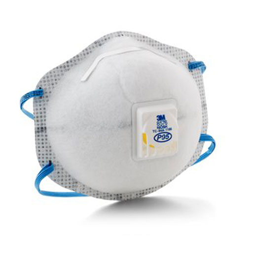 P95 Particulate Respirator 8576 w/ Nuisance Level Acid Gas Relief from 3M