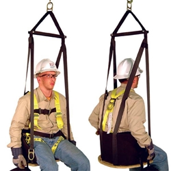 "Arborist Saddles Deluxe Work Seat, 21"" x 16"", Built-In Harness w/ Spreader Bar and Yoke from French Creek Production"