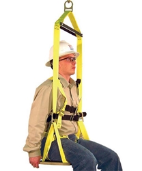 "Arborist Saddles Work Seat, 12"" x 24"", Built-in Harness w/ Spreader Bar and Yoke from French Creek Production"