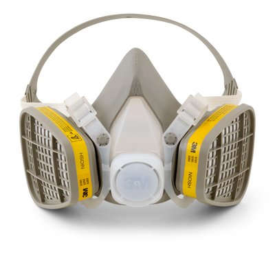 Organic Vapor / Acid Gas Half Facepiece, Disposable Respirator Assembly from 3M