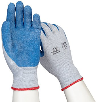 Blue Crinkle Finish Latex Palm Coated Gloves from West Chester