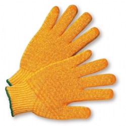 Yellow Knit Glove w/ Honey Comb Grip from West Chester