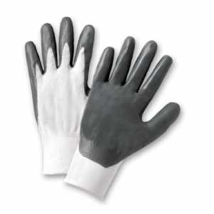 Grey Nitrile, White Polyester Liner from West Chester