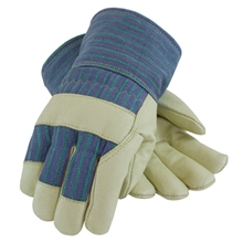 Thinsulate Lined Pigskin Leather Palm Gloves w/ Fabric Back from PIP
