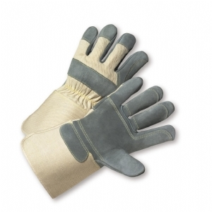 Premium Heavy Split Cowhide Double Palm Gloves from West Chester
