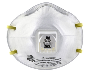 N95 Particulate Respirator w/ Valve, 8210V from 3M