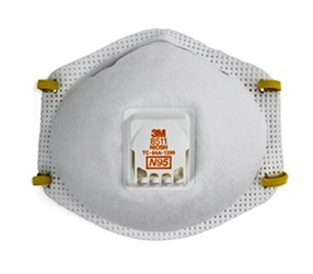 N95 Particulate Respirator w/ Cool Flow Exhalation Valve from 3M