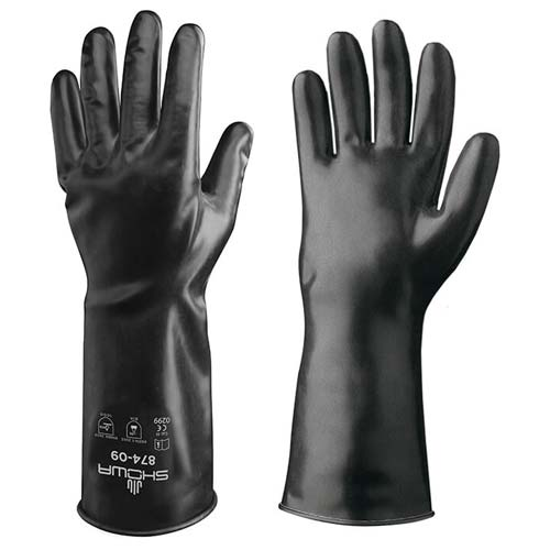 Showa 874 Unlined Butyl Rubber Glove from Showa-Best Glove