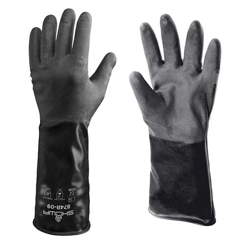 Showa 874R Unlined Butyl Glove w/ Rough Grip