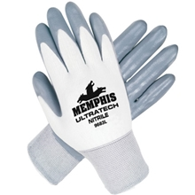Memphis UltraTech® 15 Gauge 100% Nylon Shell Nitrile Palm and Fingers Dip
