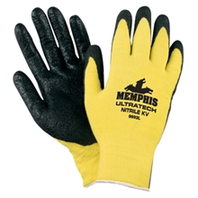 Ultra Tech 13 Gauge Gloves, 100% Kevlar Cut Protection w/ Textured Nitrile Palms from MCR Safety