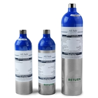 Eco  5-Gas Calibration Mix for MSA (58% LEL Pentane, 60ppm CO, 20ppm H2S, 10ppm SO2, 15% O2) from All Safe Industries