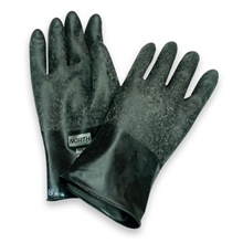 "North Butyl Gloves, Unsupported Gloves with ""Grip-Saf"""