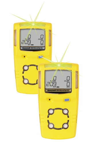 GasAlert MicroClip X3 Multi-Gas Detector from BW Technologies by Honeywell