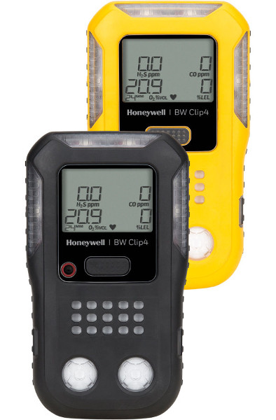 Clip4 2-Year Continuous 4-Gas Detector from BW Technologies by Honeywell
