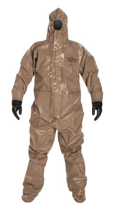 Tychem 5000 Coverall w/ Respirator Fit Hood, Attached Socks & Outer Boot Flaps from DuPont