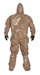 Tychem 5000 Coverall w/ Respirator Fit Hood, Attached Socks & Outer Boot Flaps - C3185T  TN