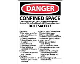 OSHA Sign - Danger Confined Space Do it Safely List from National Marker