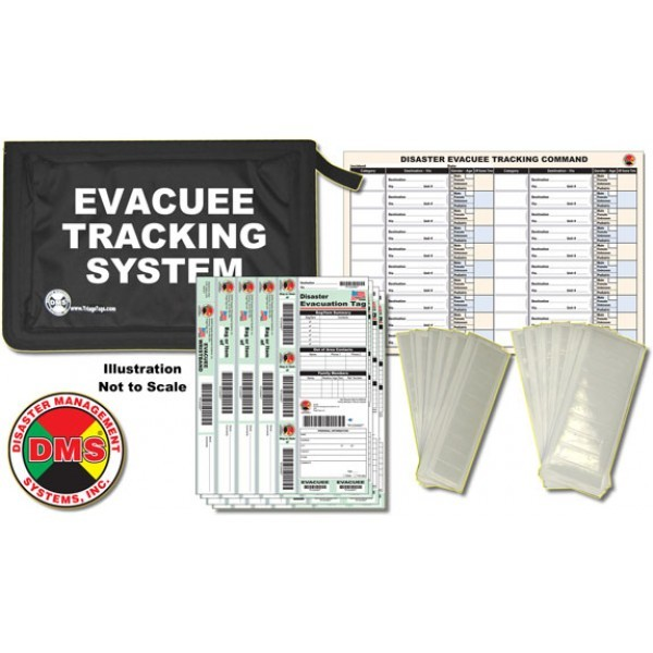 Evacuee Tracking Kit from Disaster Management Systems