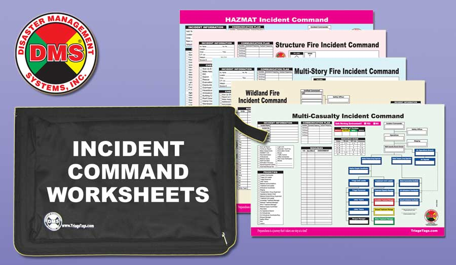 Multi-Hazard Incident Command Worksheet Kit from Disaster Management Systems