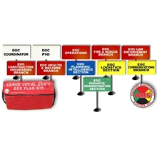 EOC Flag Kit for Large Local Government - 11 Flags from Disaster Management Systems
