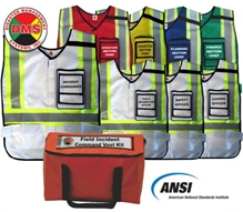 NIMS/ICS Field Incident Command Vest Kit