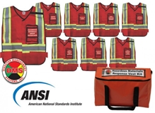 NIMS/ICS Hazardous Materials Response Organization Vest Kit DMS-05307