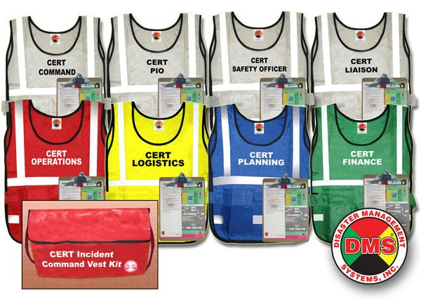 CERT Incident Command Vest Kit from Disaster Management Systems